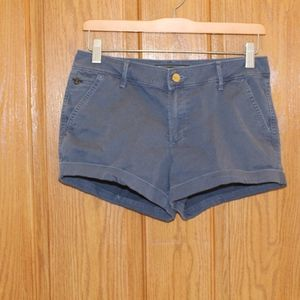 Abercrombie & Fitch,  blue low rise shorts